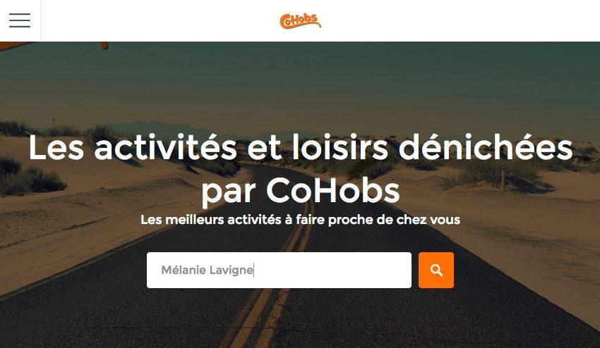Les activités de loisirs dénichée par CoHobs